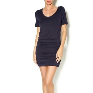 Lysse ruched bodycon stretch minimalist dress S